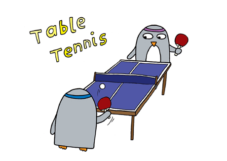 Postcard - Table Tennis