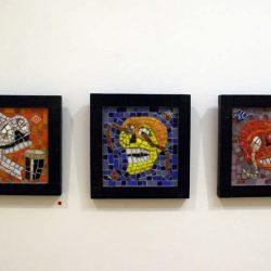 'Calavera I, II & III' by Elaine Dockery