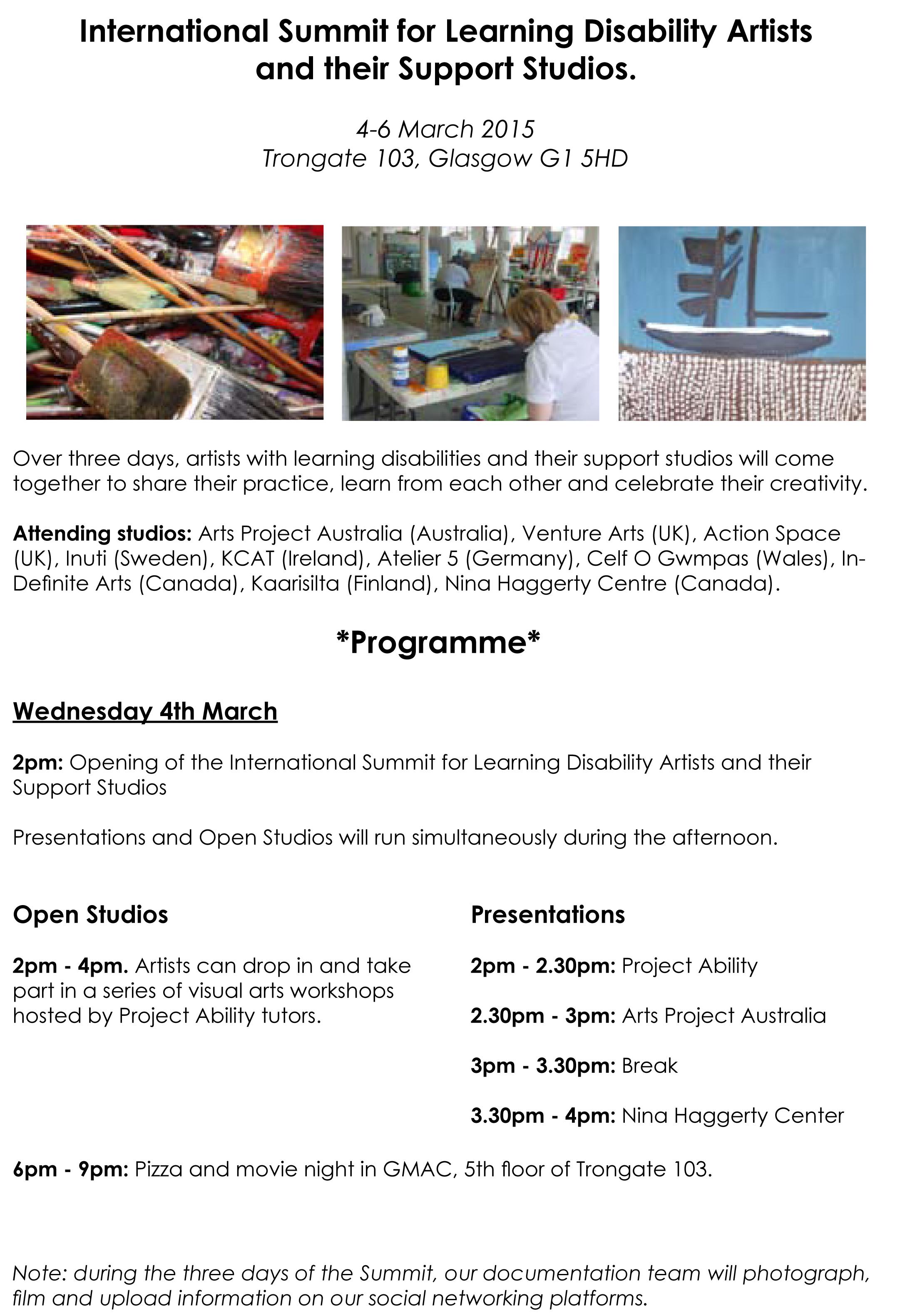 The Summit - Programme