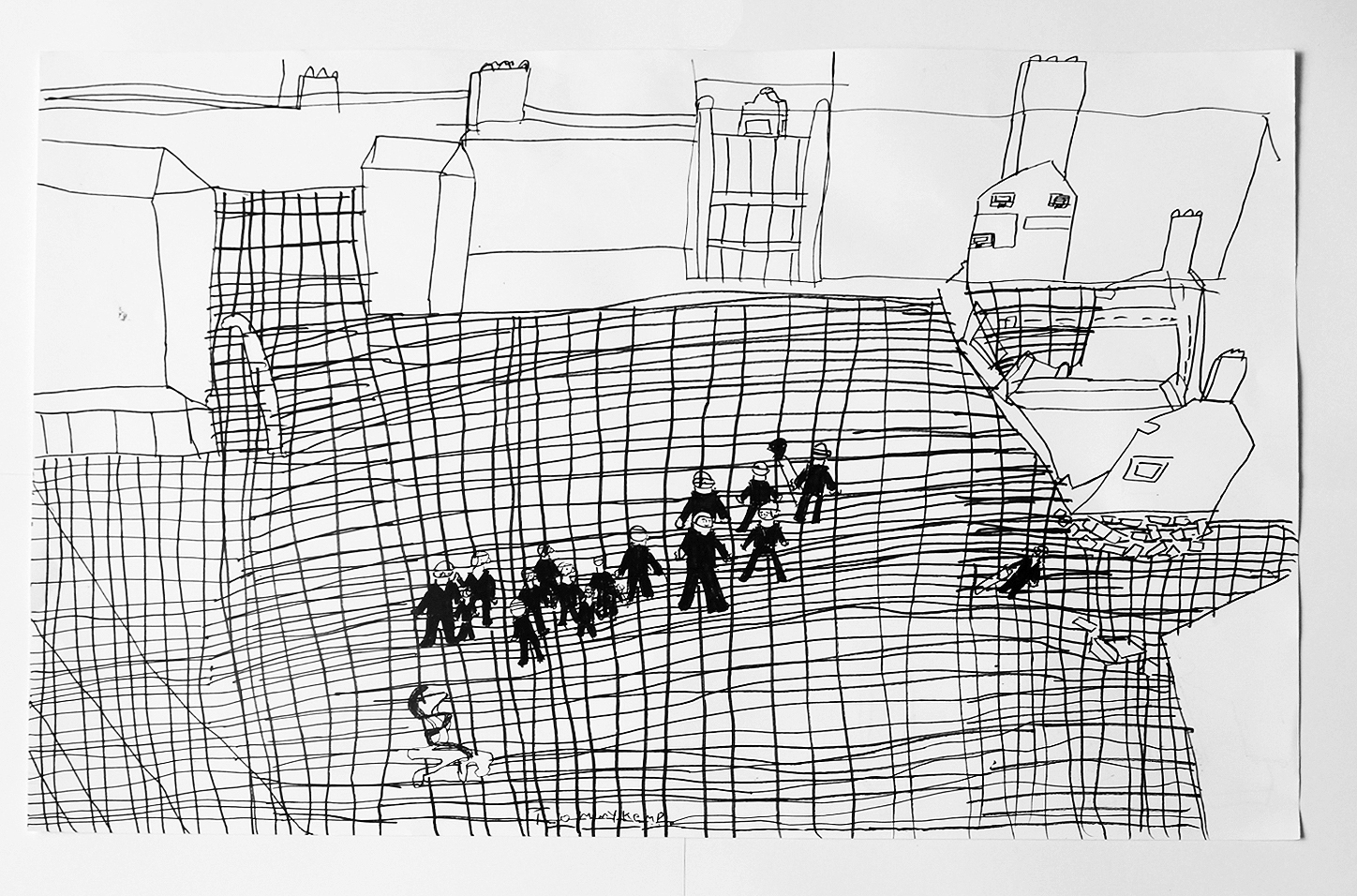 Artwork of the Week – 'Untitled', pen & ink on paper by Tommy Kemp