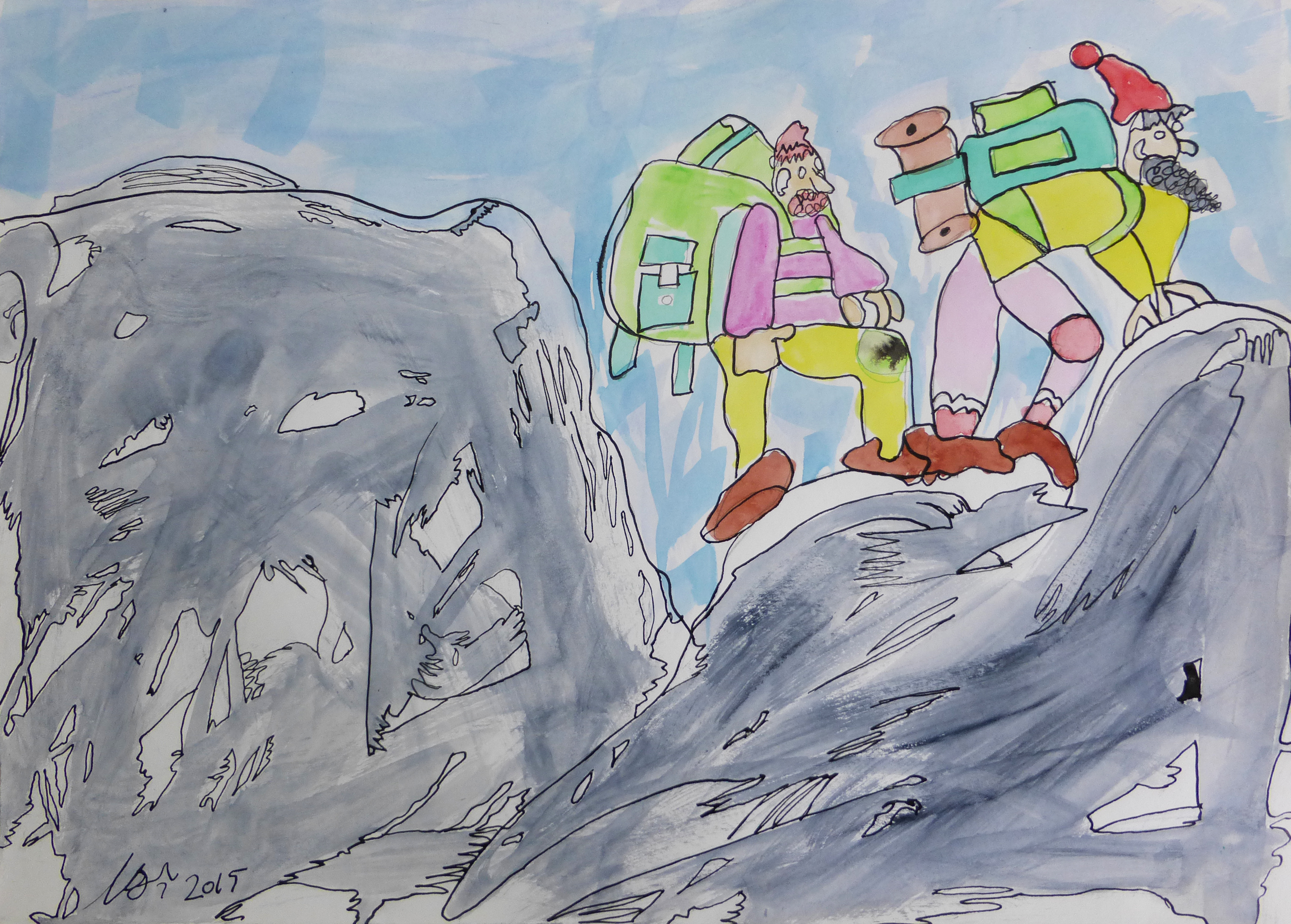 Artwork of the Week – Mountain Climbers by Cameron Morgan