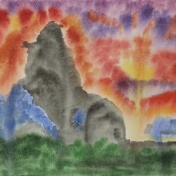 'Sunset and clouds I' by Dibby Sim