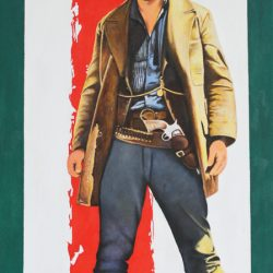 'Lee Van Cleef' oil on canvas by Patrick Butterworth, 100 x 50 cm, £490 Image 5