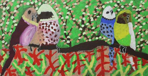 Four Little Birds' by Liz Blair