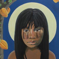 Girl Under Cocoa Tree