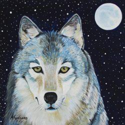 Wolf in Moonlight
