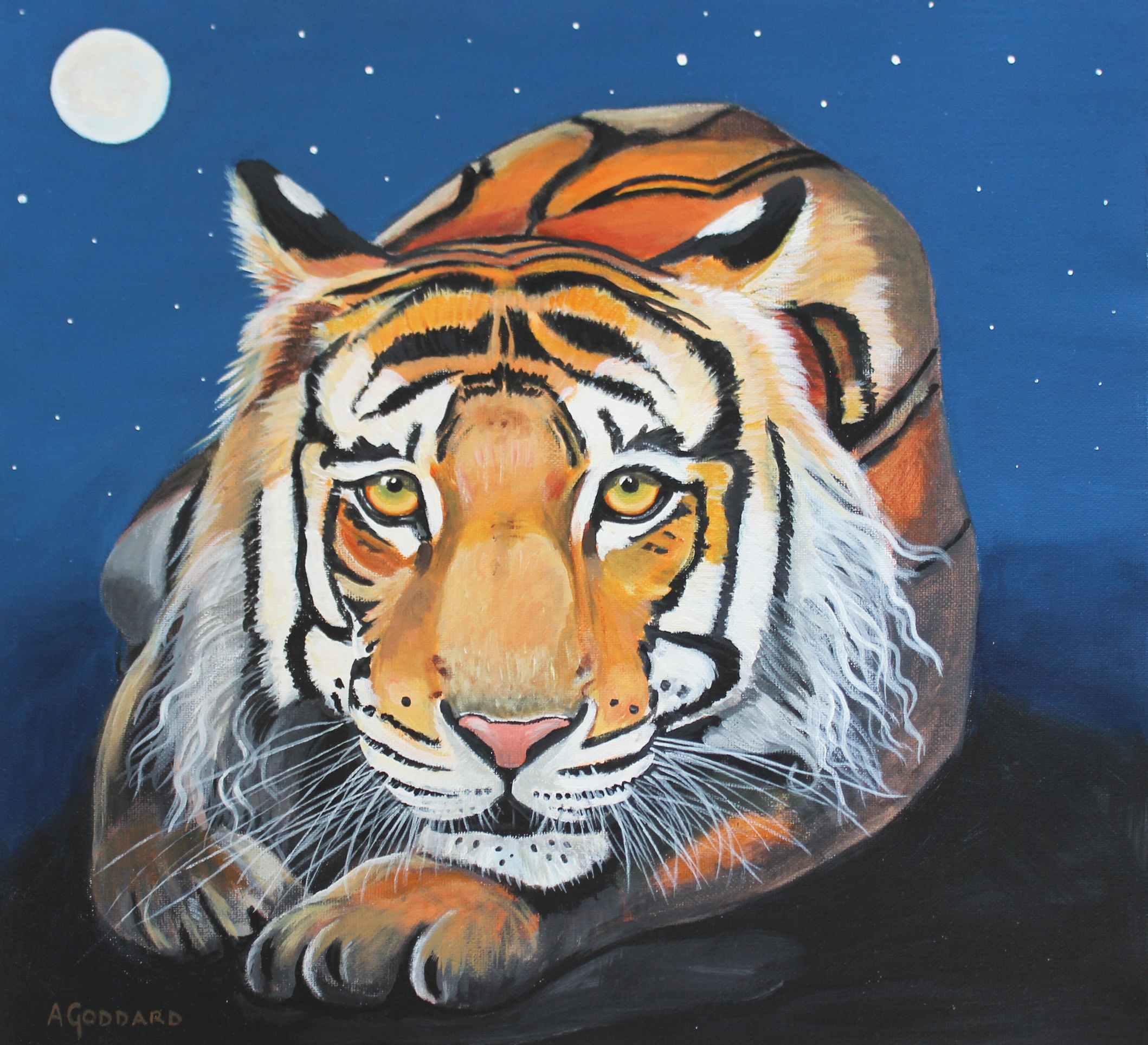 Tiger Moon' by Anji Goddard