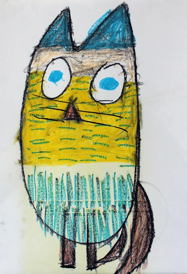 Beastie Owl Cat' by Lewis Scott
