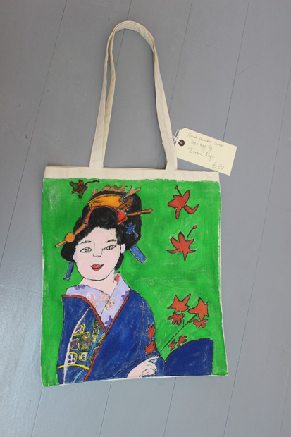 Hand Painted Canvas Bag by Doreen Kay