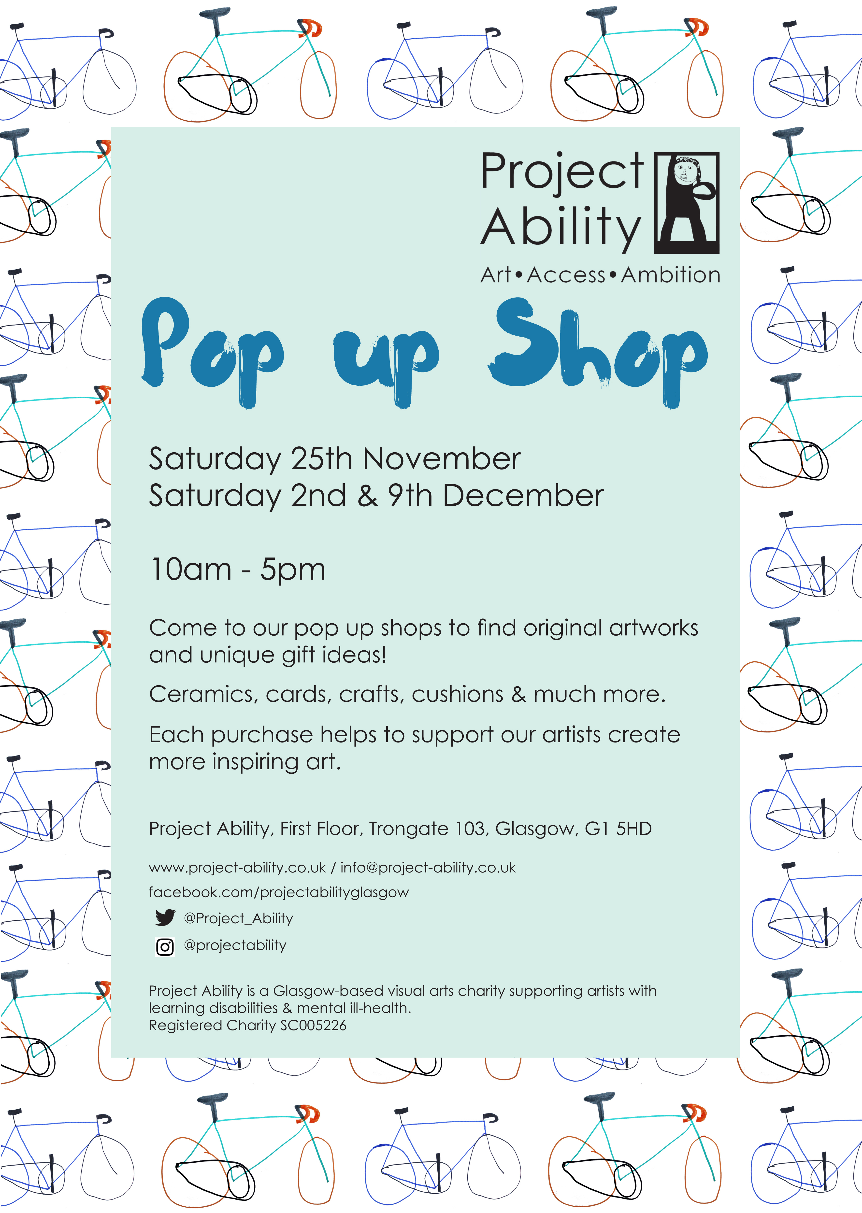 Project Ability pop-up shops coming soon