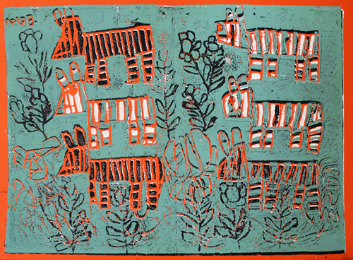 Zebra screen print by Brian McGinnis