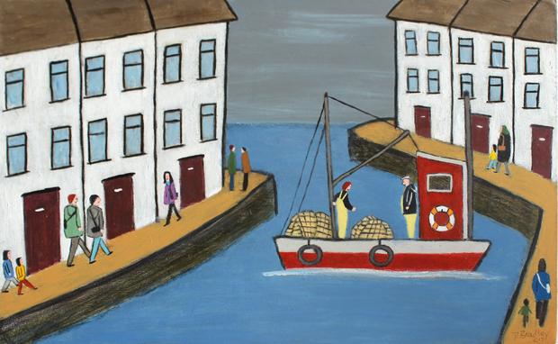 Scottish Harbour Scene' by David Bradley