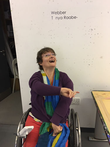 Tany Raabe-Webber on her visit at Project Ability