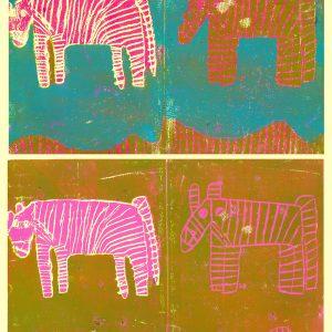 Brian McGinnis: Zebra poster