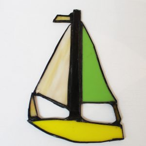 Jan Thomson Stained Glass Sailboat