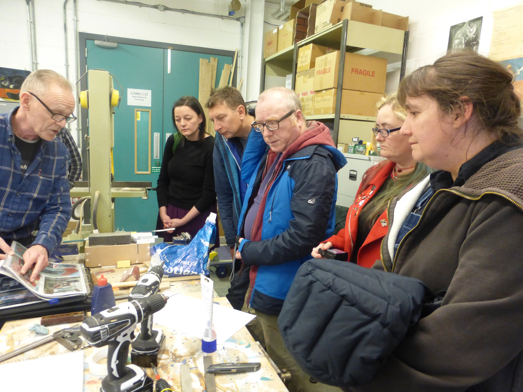 Heritage Lottery Project: visit to GMRC