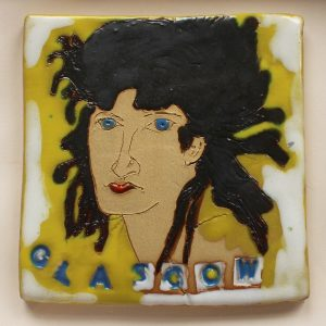Glasgow ceramic tile by Sian Mather, made at Project Ability studios