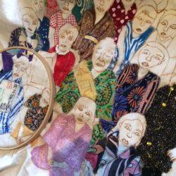 Embroidery by Sombrero del Bajo artist