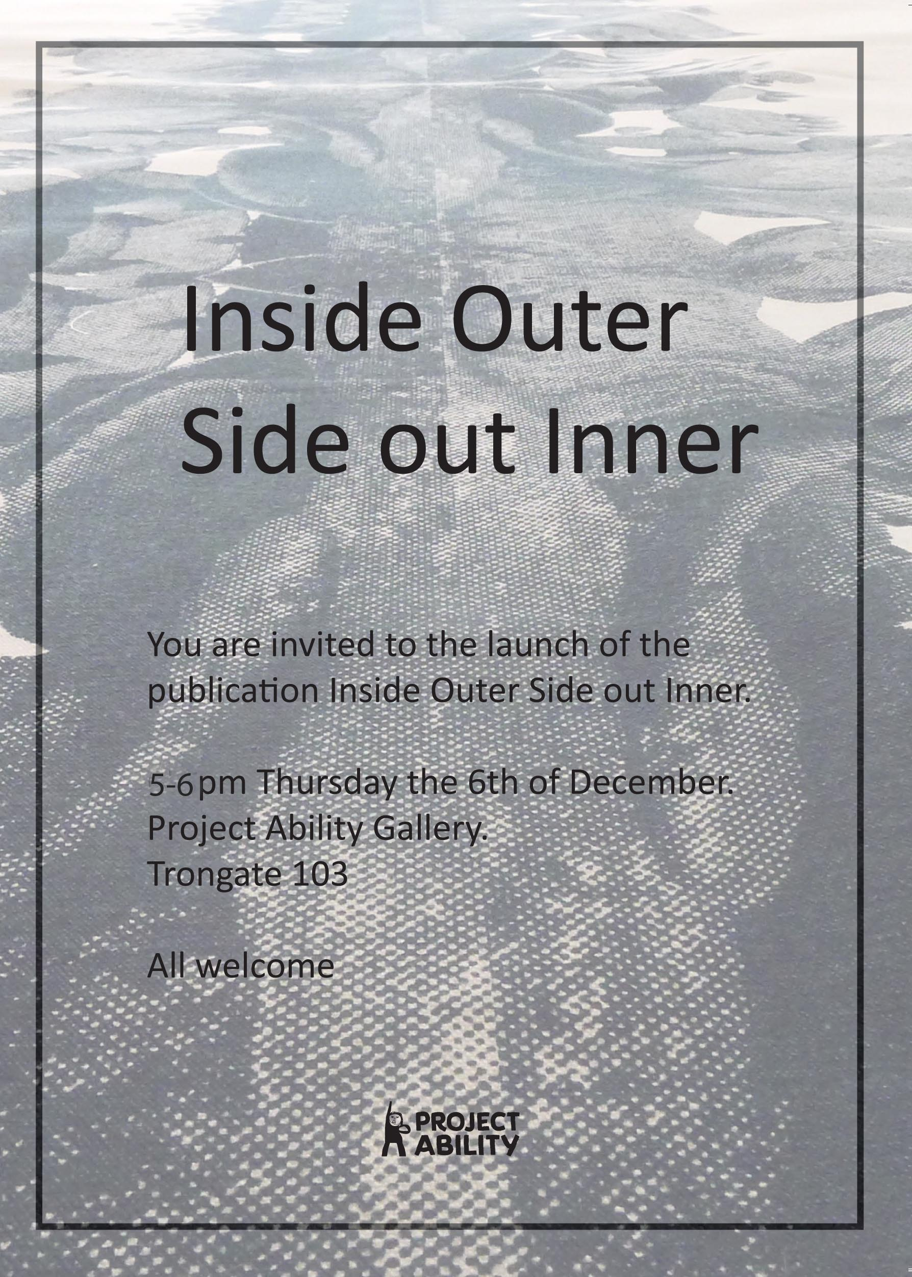Invitation for the launch of Simon McAuley's publication