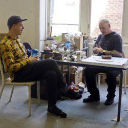 Volunteer Michael Skeen in ReConnect studios