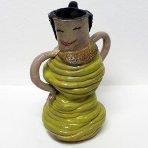 Yellow Lady Vase by Nicole Cheong