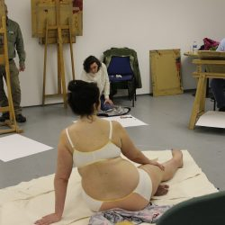Life drawing session at Project Ability