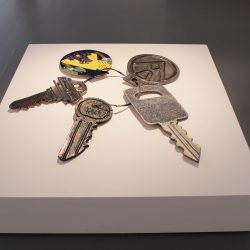 large sculpture of keys by Cameron Morgan & Charlie Hammond