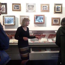 group inside the War Poets Collection, Edinburgh