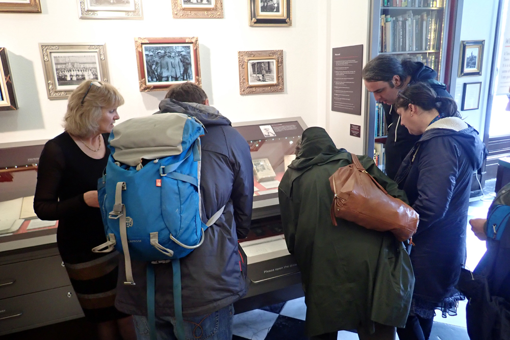 Heritage Lottery Group visiting War Poets Collection