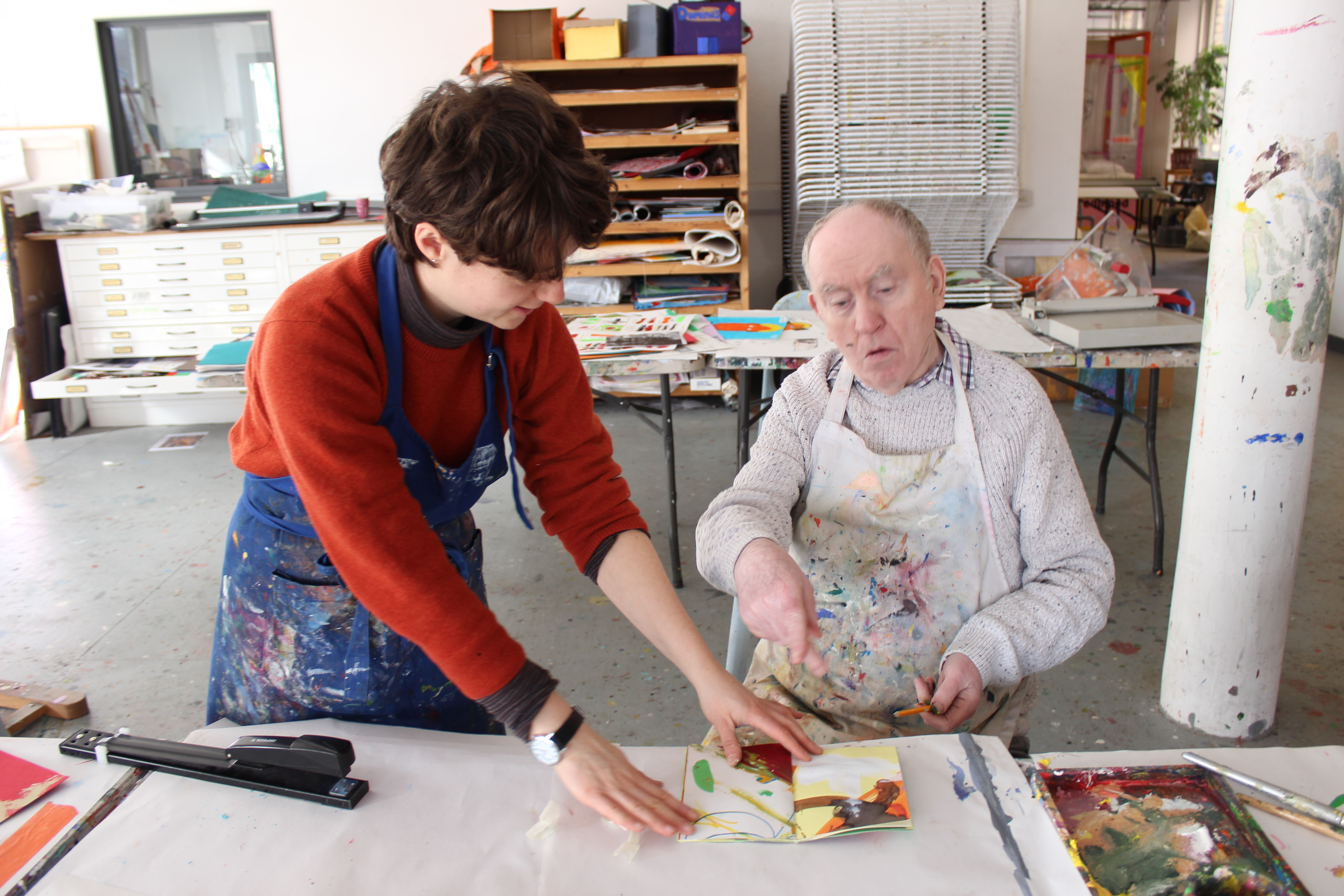 volunteer with artist at Project Ability