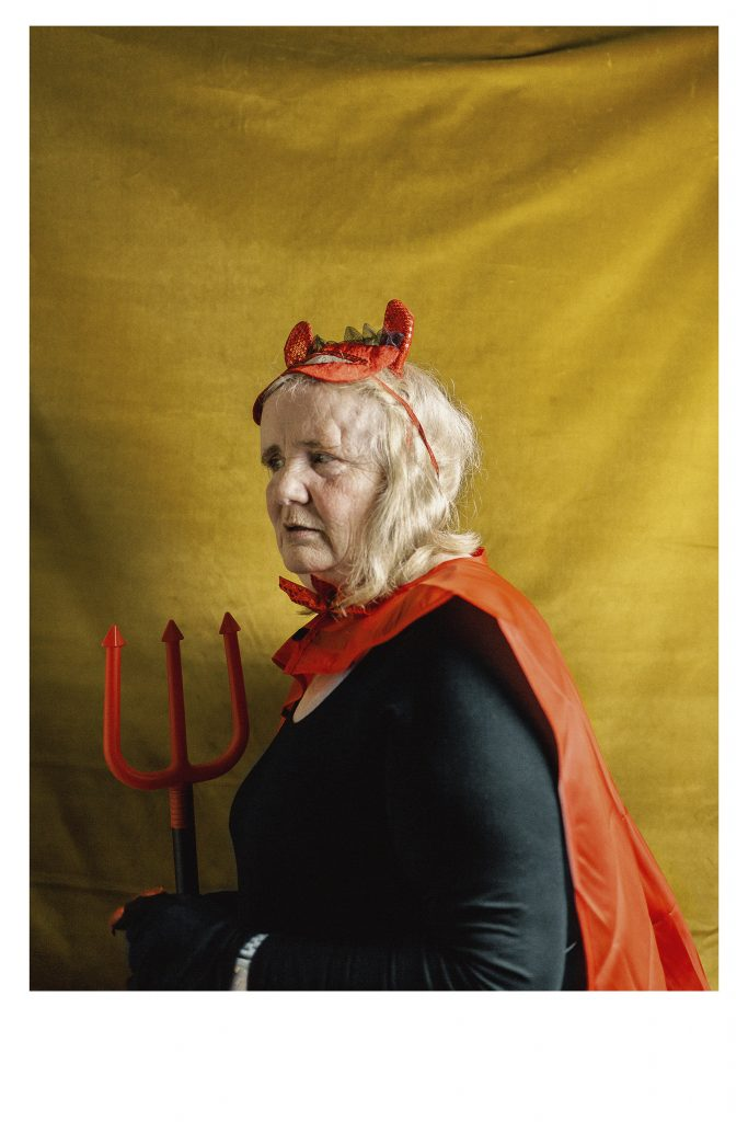 photograph of Doreen Kay dressed as the devil
