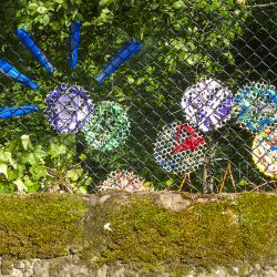 outdoor art at Linn Park made at a Project Ability workshop