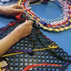 colourful weaving art at Linn Park by Project Ability