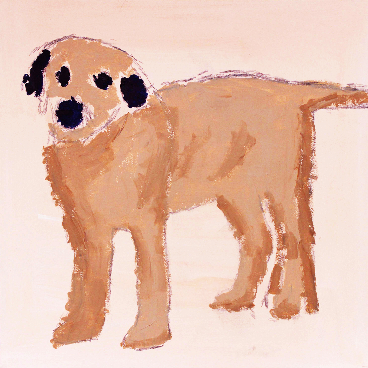'Dog' painted by Obi Oguguo