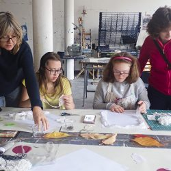 Down's Syndrome Sunday Social group making art