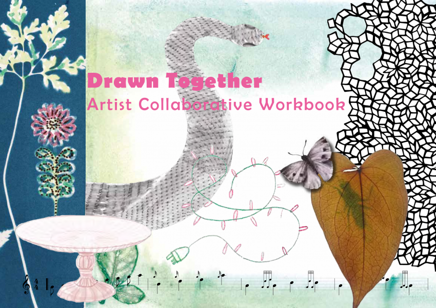 An image showing the illustrated front cover of the book 'Drawn Together'