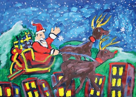 Here Comes Santa' Christmas Card